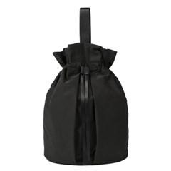 3WAY STRING BAG / WRINKLE / PC / BLACK