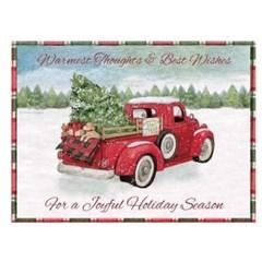 크리스마스 팝업카드-santa's truck