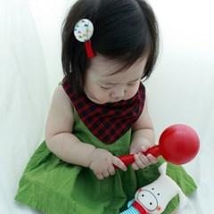 유아동 사계절 체크 패턴 6종모음 삼각 아기스카프빕