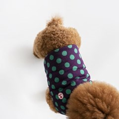Dot Short Padding(Purple)