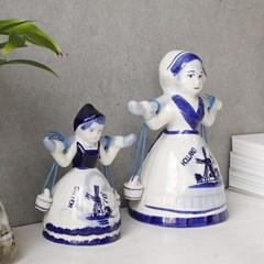 델프트 블루 소녀벨 장식(2size)_(1821511)