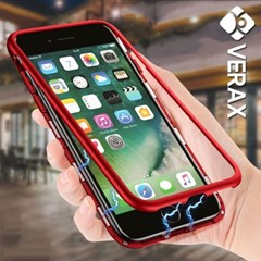아이폰8 마그네틱 강화유리 커버 메탈 케이스 P261_(2293818)