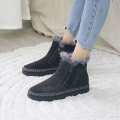 kami et muse Stitch outsole fur ankle boots_KM19w216