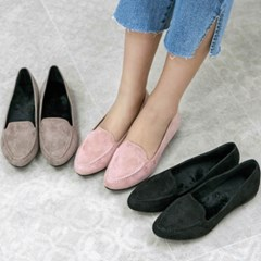 kami et muse Stitch top suede fur loafers_KM19w220