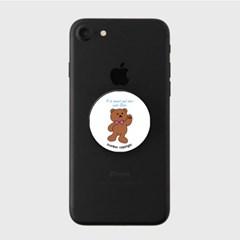 lettering bear - White(스마트톡)