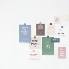 [디즈니] 봉투 메모 세트 _ 위니 더 푸 (봉투+메모+스티커)