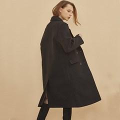 STANDARD WOOL MAC DOUBLE COAT BLACK