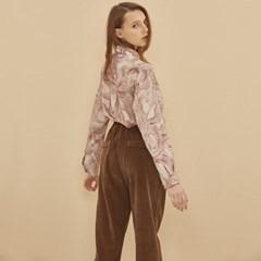 CORDUROY BAND WIDE PANTS BROWN