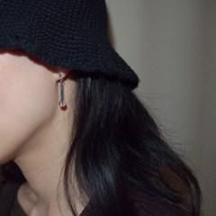 blue_crystal_ear 다크블루 백수정 원석귀걸이