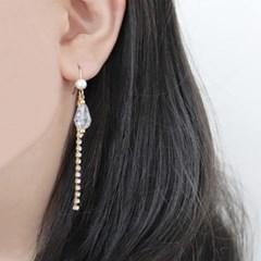 [우아한 공방] 트윙클 크리스탈 드롭 귀걸이