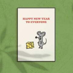 새해 신년선물 경자년 쥐띠해 해피뉴이어 아트포스터