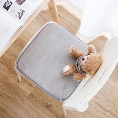 따뜻한 겨울 사무실 의자 좌식 사각 극세사 털방석