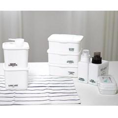 화이트 세제용기 가루 세탁용품