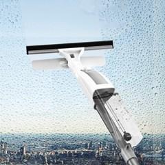 아파트 창문닦기 화장실 천장 청소 밀대 스퀴지 장착