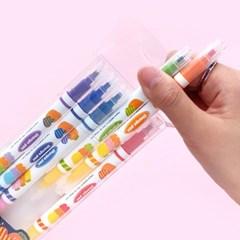 핑크풋 당근 체인지 형광펜(6p)