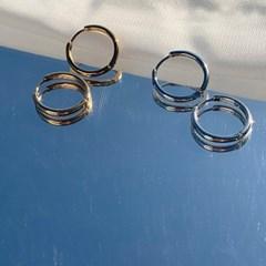 원터치 링 귀걸이 (2colors)