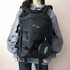 [SF9 인성 착용]RUBBER LOGO BACKPACK