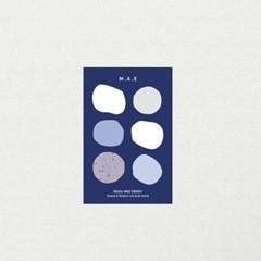 blue pebble sticker / 조약돌 스티커