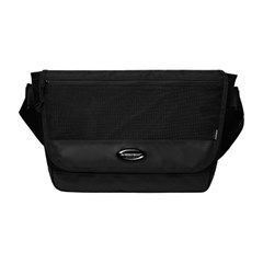 RUBBER LOGO MESSENGER BAG