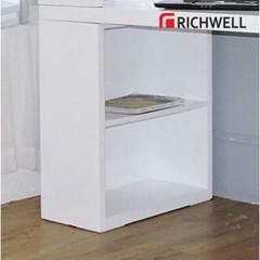 리치웰 하이그로시 화이트 H형 책상 세트 1500+5단 서랍통(의자별도)