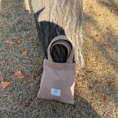 twill mini bag_cocoa beige