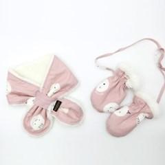 꿈두부 유아 네키목도리 장갑 세트 12종 아기 방한용품