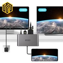 웨이코스 씽크웨이 CORE D53덱스 8in1 HDMI 멀티포트 허브