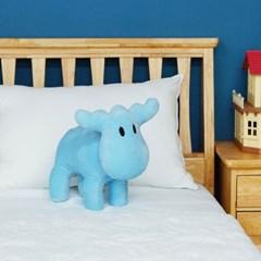 모즈 스웨덴 큰뿔 사슴 캐릭터 극세사 인형 쿠션 블루_(1246509)