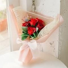 [쇼핑백증정] 티아라 핑크레드 비누꽃다발 -졸업꽃다발