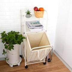 데코 갤러리 이동식 세탁물 분리수거함