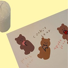 [뮤즈무드] cookie bear sticker