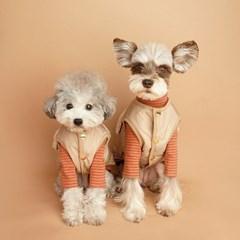 My Dogs Padding Vest 마이 도그스 패딩 베스트_Beige