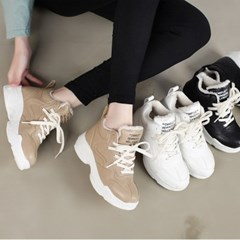 kami et muse Mini wedge insole ugly fur sneakers_KM19w250