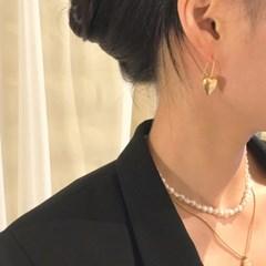 [하트 귀걸이] 골드하트 이어링
