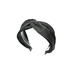 simple twist hairband (charcoal)