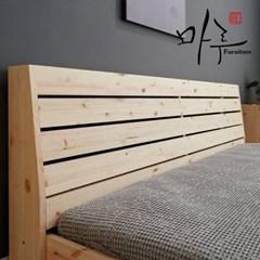 소나무원목 갤러리 저상형 SS 침대 프레임+독립라텍스_(3377)