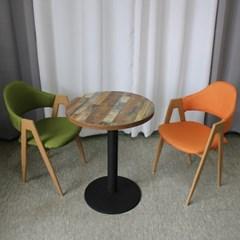 멀바우 빈티지 원형/사각 테이블 소나타의자 세트