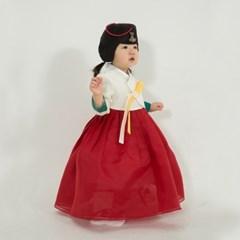 한설한복1702.S 고급스러운 한국미 연출 홍대추 빨강치마 여아한복