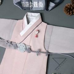 한설한복H.5607 럭스 핑크 남아쾌자한복