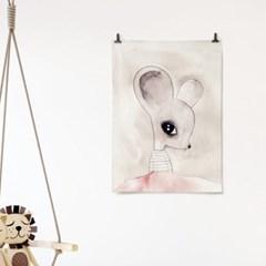 패브릭 천 포스터 F167 동물 그림 액자 카니발 no.2