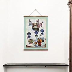 패브릭 포스터 명화 동물 개 유화 그림 액자 폴 고갱 8
