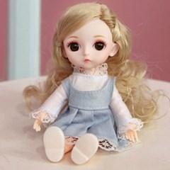 귀여운 여아생일선물 작은 미니 구체관절인형 16cm