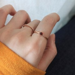 가넷&자수정 심플 로즈 반지(2type)(1월,2월탄생석)