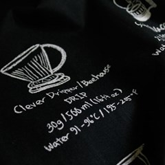 [모모제작소]커피메뉴 북유럽 코튼 가리개커튼 132x75