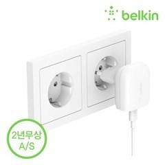[벨킨] 18W USB C타입 핸드폰 가정용 고속 충전/어댑터/F7U096krWHT