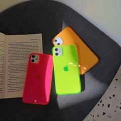 네온 글로우 투명 아이폰 케이스