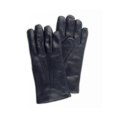 Peccary Leather Gloves For men_Navy