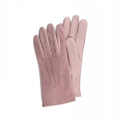 Suede Leather Gloves For Women_Pink(Rosa)