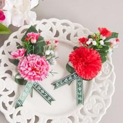 3송이 카네이션코사지(벌크) 100개 조화 꽃 어버이날 감사 선물 FAIC