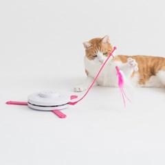 묘심 캣치더테일 고양이 자동장난감 가려진 쥐꼬리를 잡아라